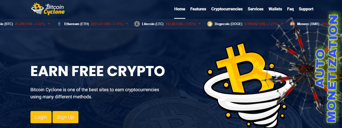 BITCOIN-CYCLONE earnings cryptocurrency AUTOMONETATION