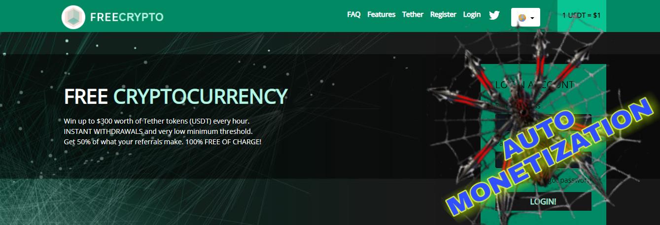 FREETETHER earnings cryptocurrency AUTOMONETATION